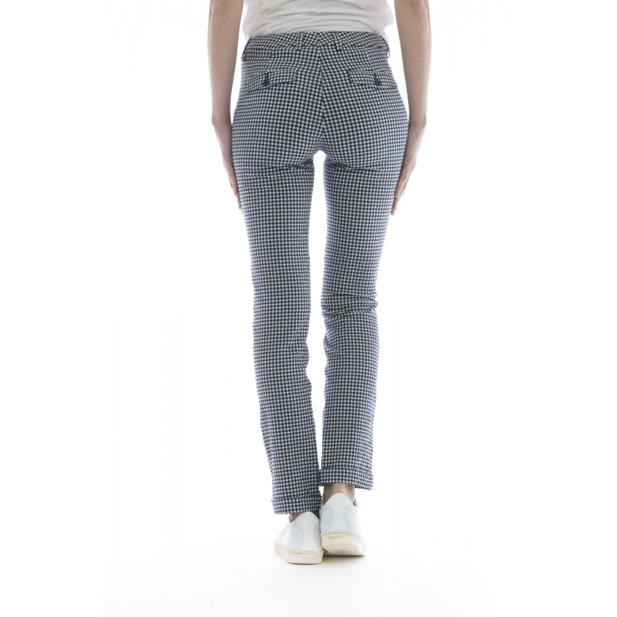 Pantalone donna - Leyre 172568 d6243 seersucker bistrech 96% cotone, 3%elastane, 1% polia