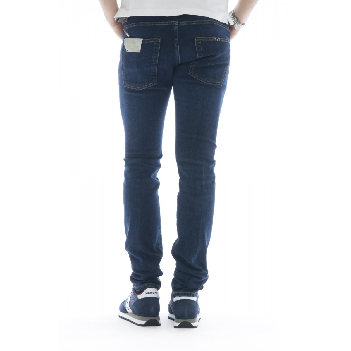Jeans - Toto 744l363 jeans slim strech curabo giapponese