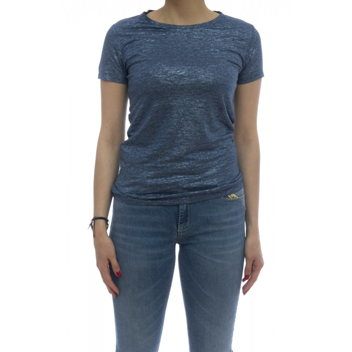 T-shirt - E09 02 t-shirt slim lino splmato