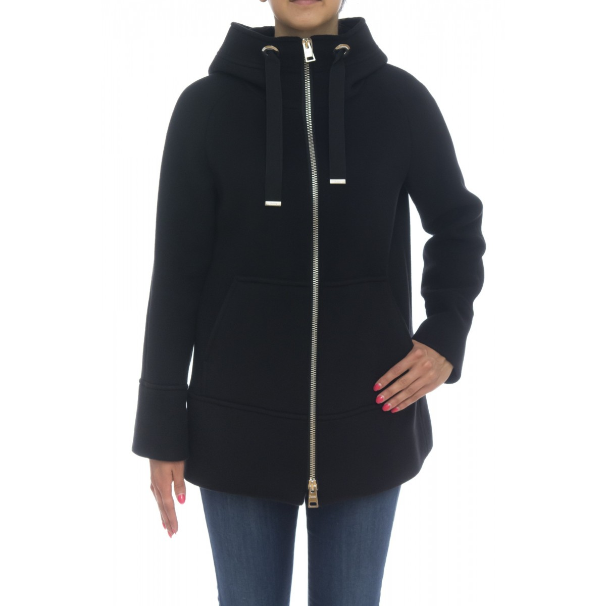 Down Jacket Woman- Gc002dr 38153  resort cappotto soft wool double