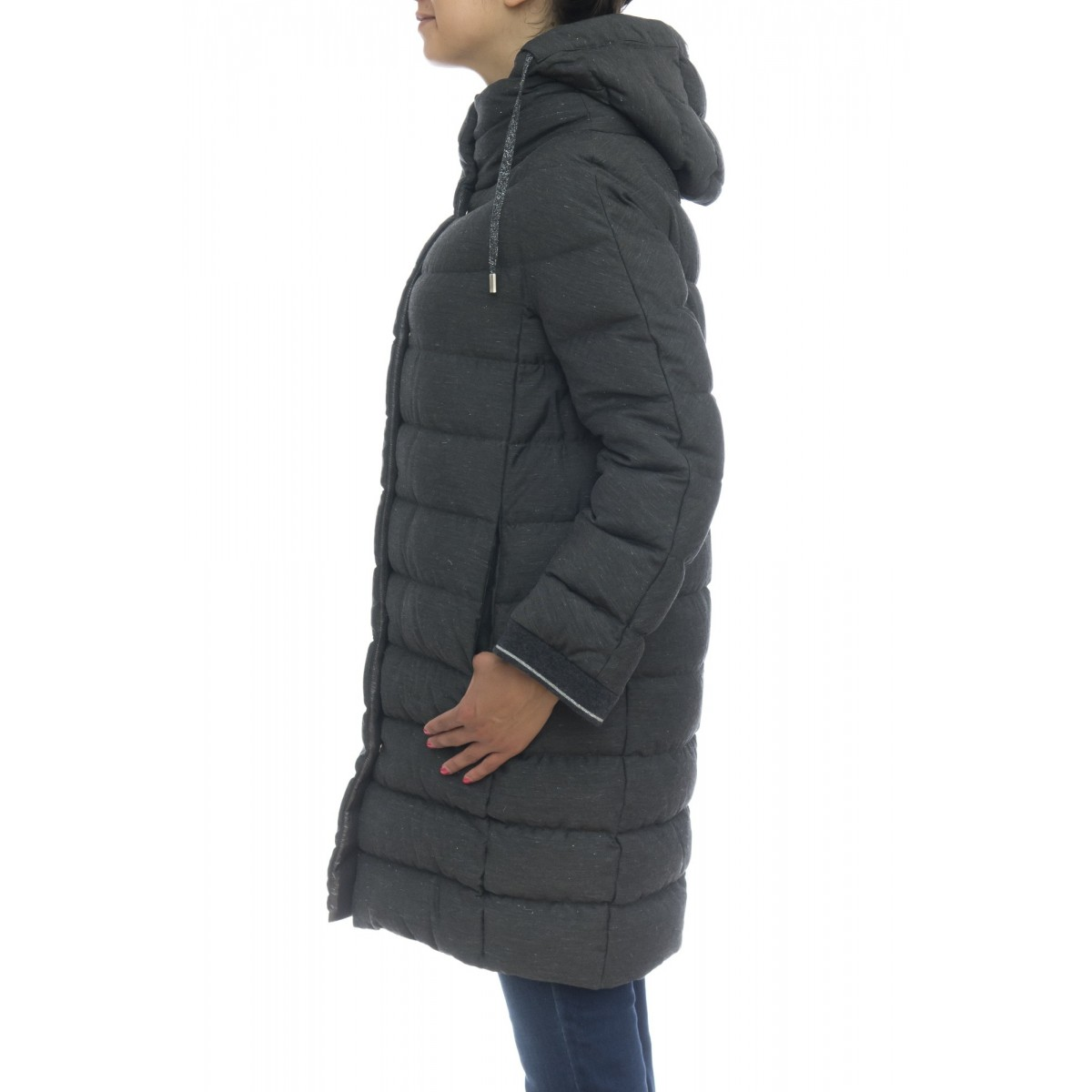 Down jacket Woman- Pi010dr 12330 resort  melange lurex