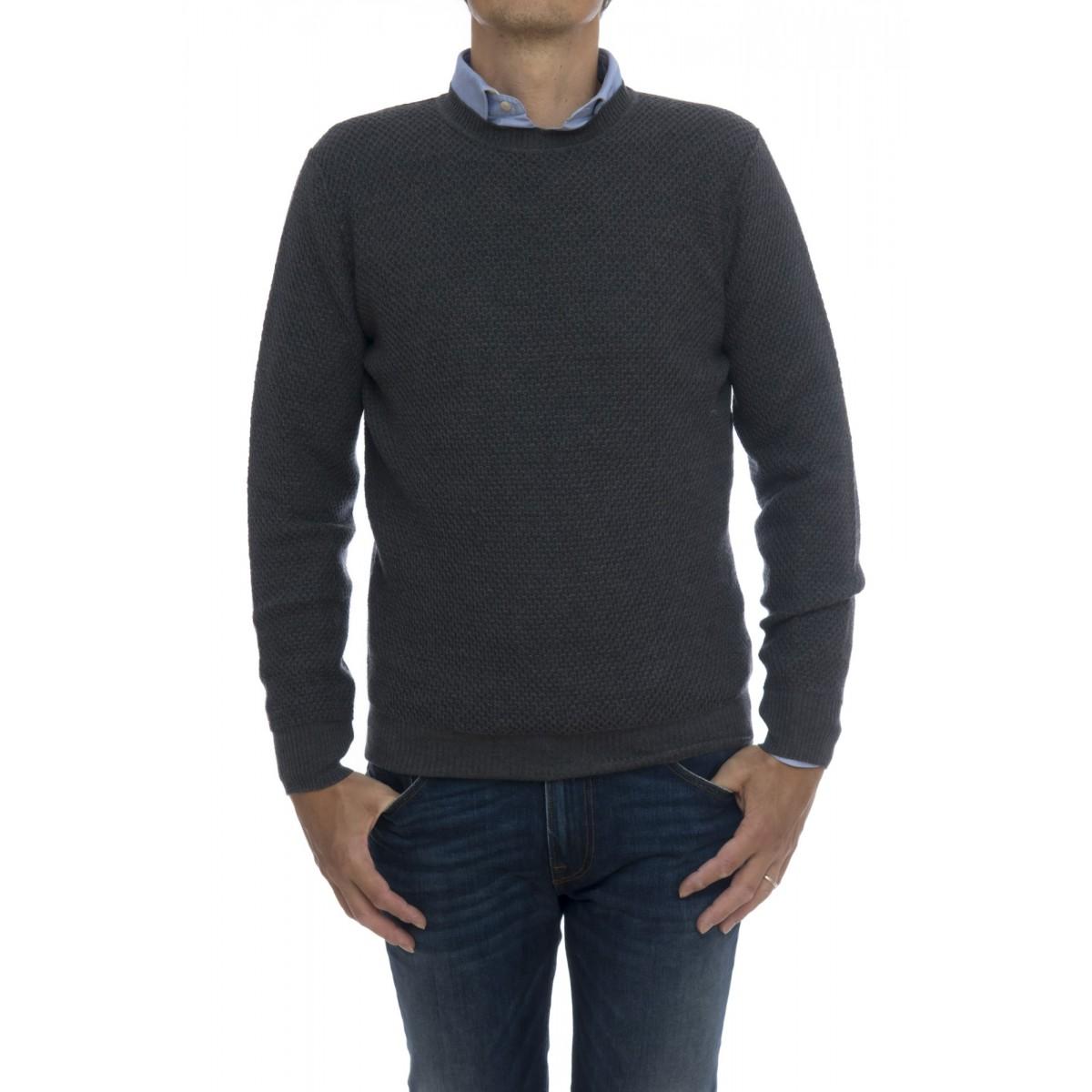 Sweater Man- 6026/01 maglia rombo rovesciato giro
