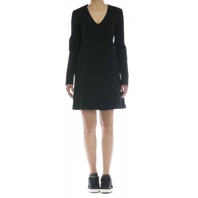 Vestito - J7003 abito punto milano scollo v