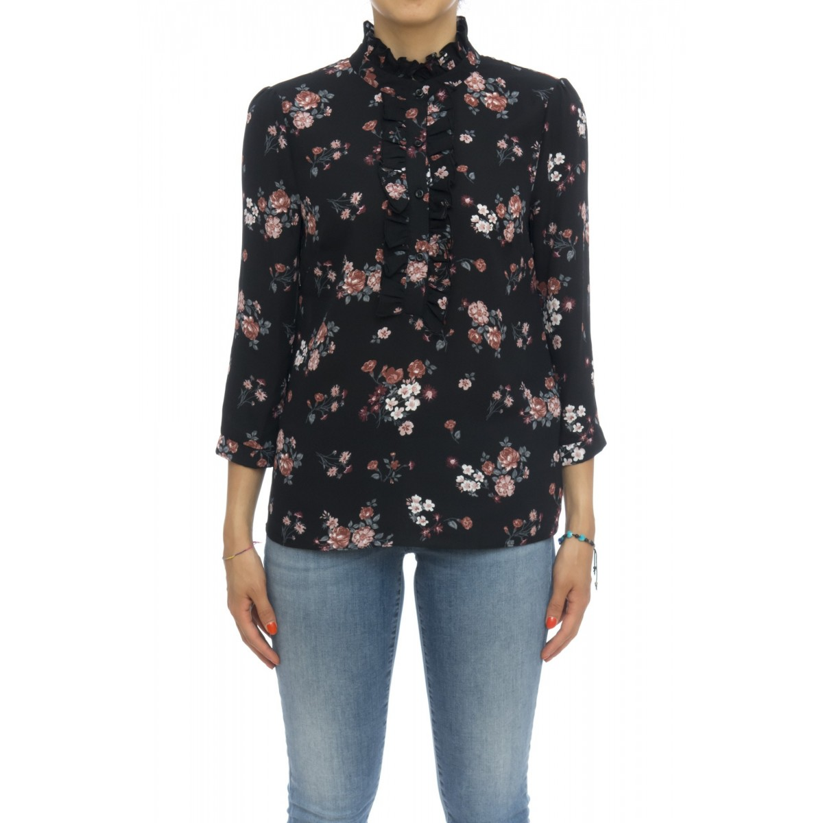 Camicia donna - Napier camicia stampa fiori