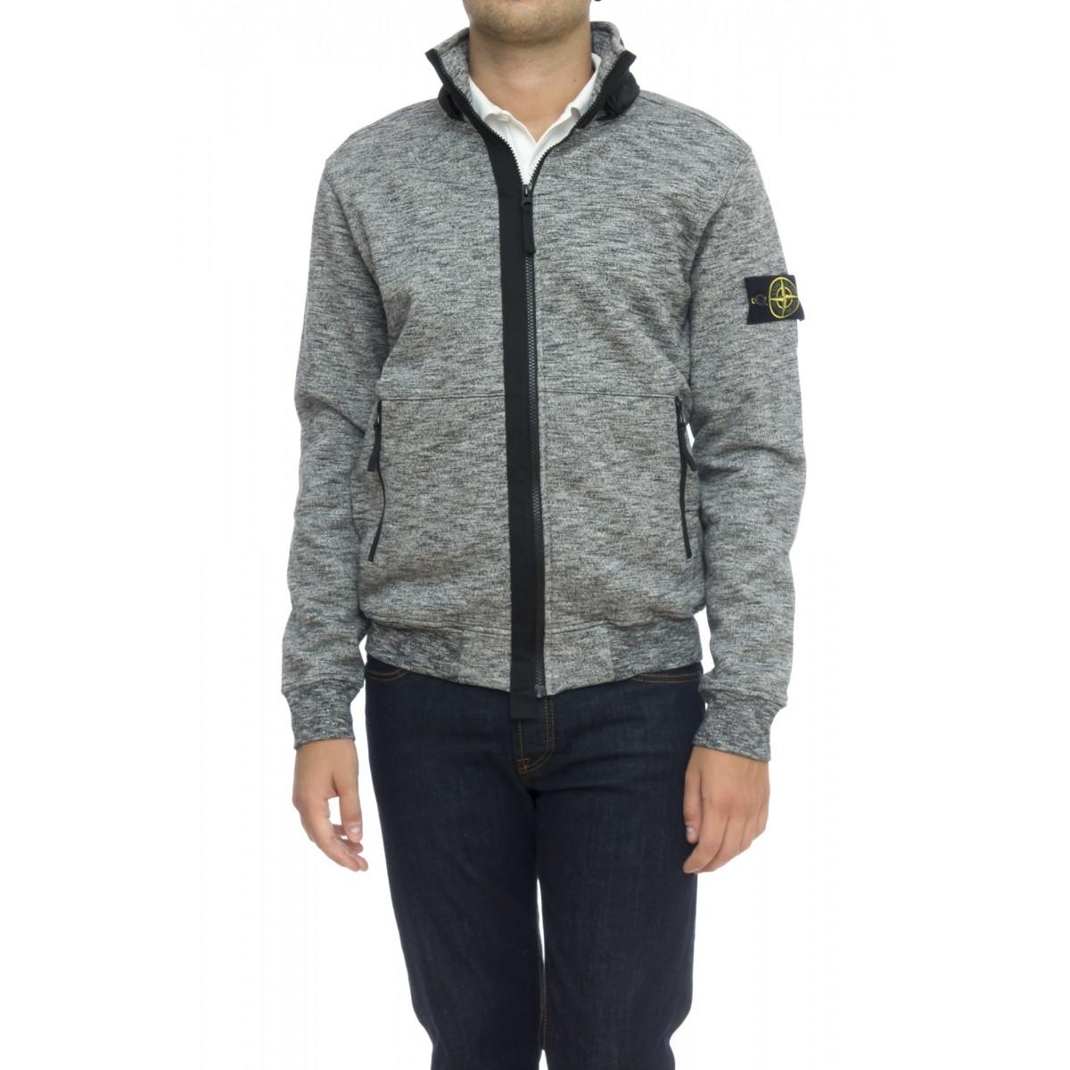 Felpa uomo - 63237 felpa full zip cappuccio nylon