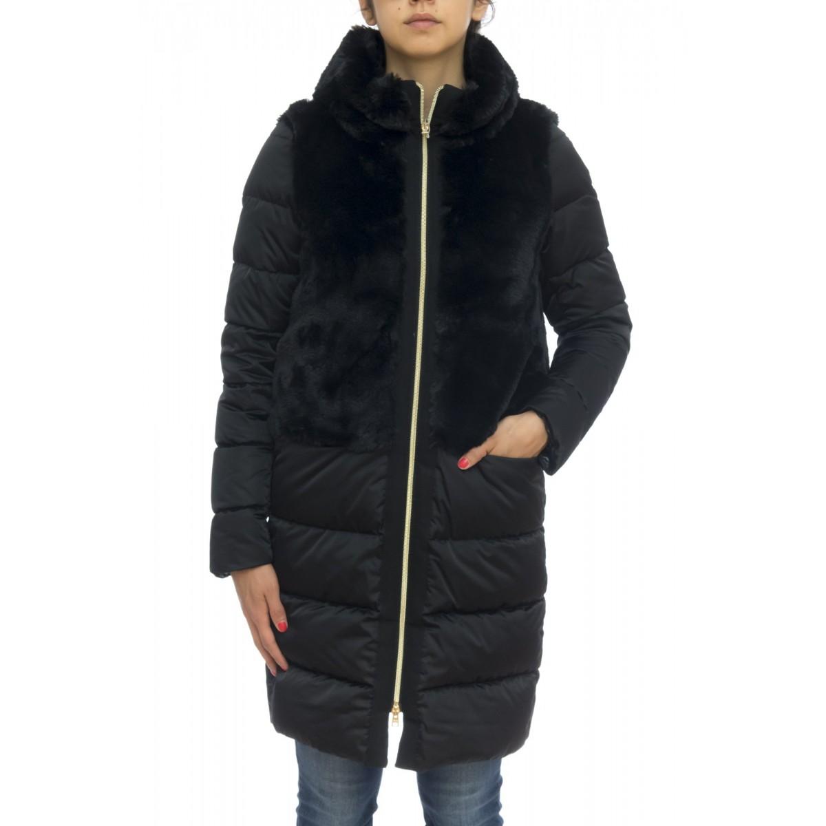 Piumino - Pi0873d 15100 nylon con eco pelliccia