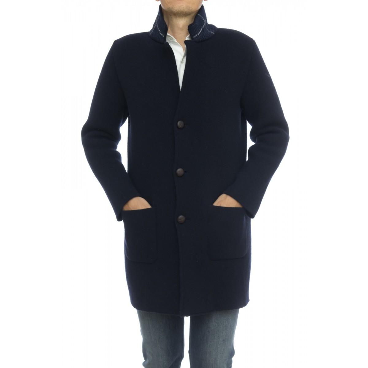 Cappotto Uomo- 7026/A cappottino tinta unita lana