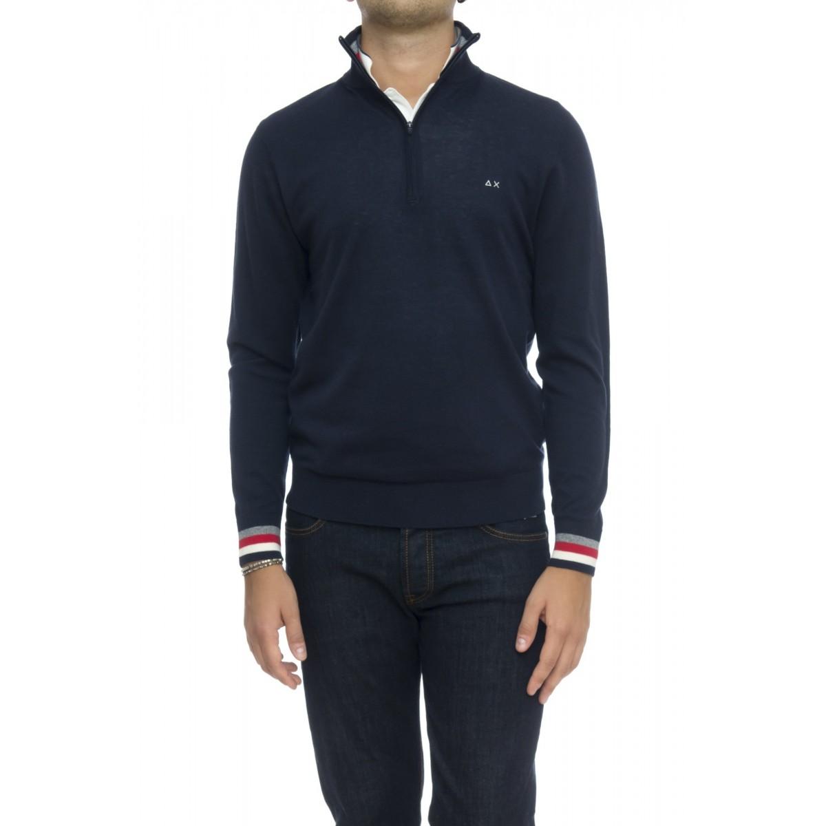 Maglia uomo - K28115 maglia mezza zip