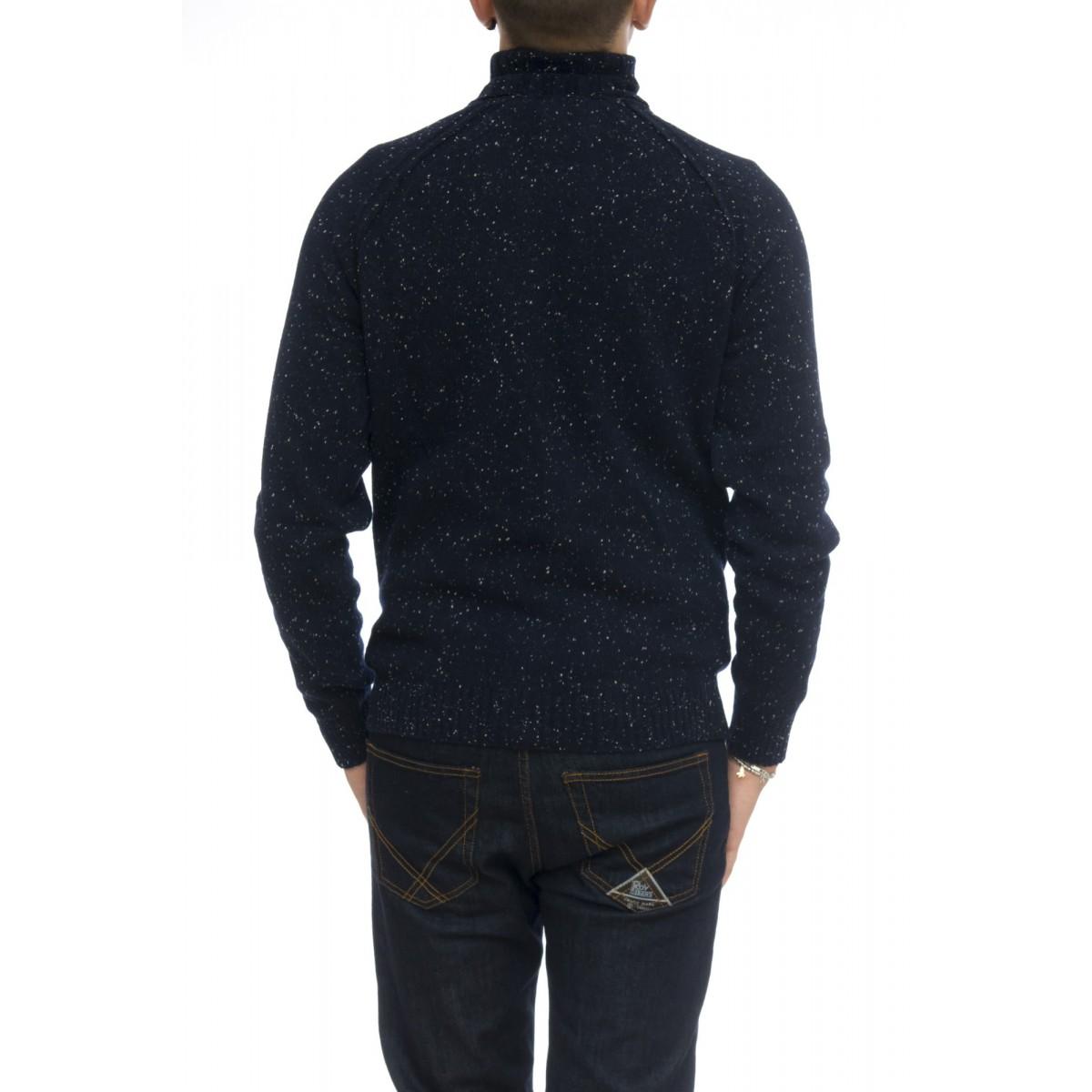 Maglia uomo - 1883004/t lavorazione bottonato 100% merinos collo alto