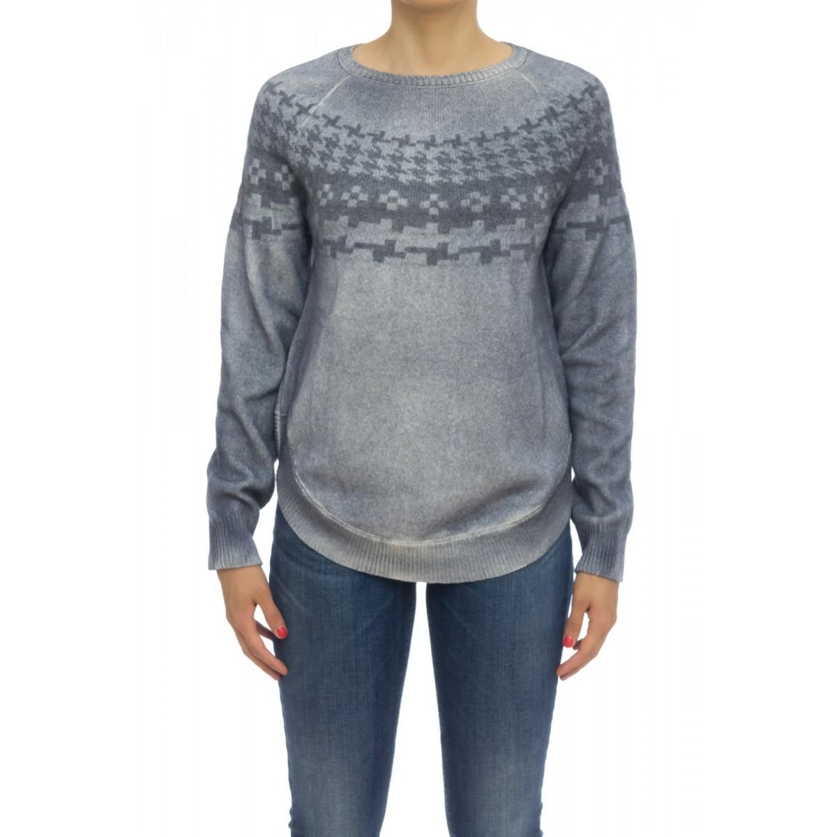 Maglieria - 1882080 maglia jaquard spruzzata 92%merinos 8% cashmeire