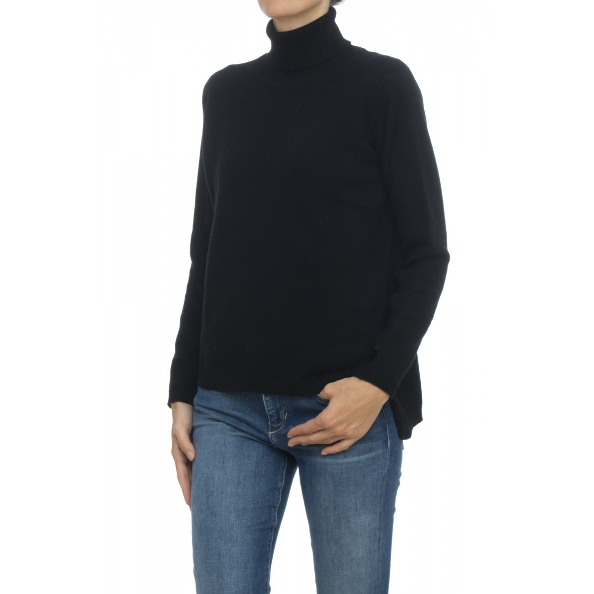 Cashmere Turtleneck Sweater Woman- CL12