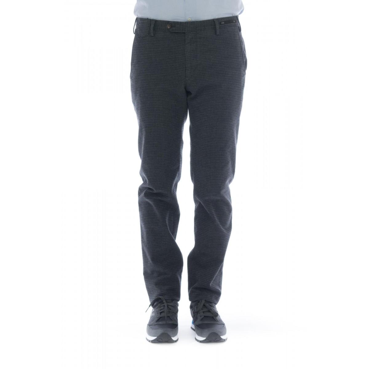 Pantalone uomo - Codl sd25 super slim cotone strech tinto filo fantasia
