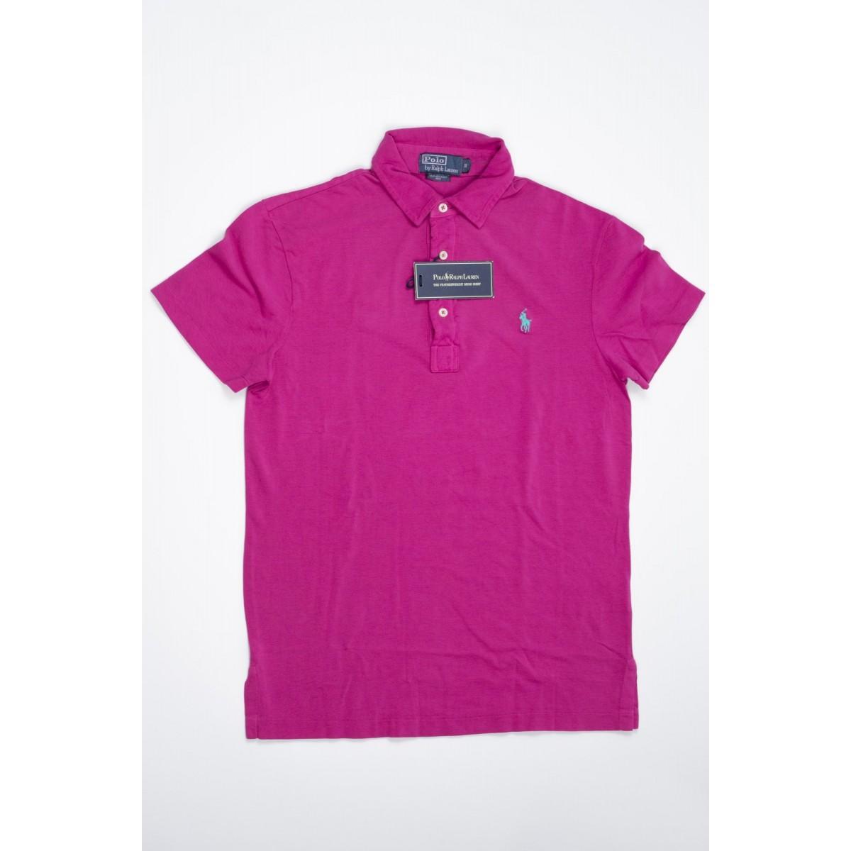Polo Short Sleeve Man Polo Ralph Lauren - A12Kss1Ycf5E3 Aao90 Delavata Polo Manica Corta Uomo Nido D'Ape