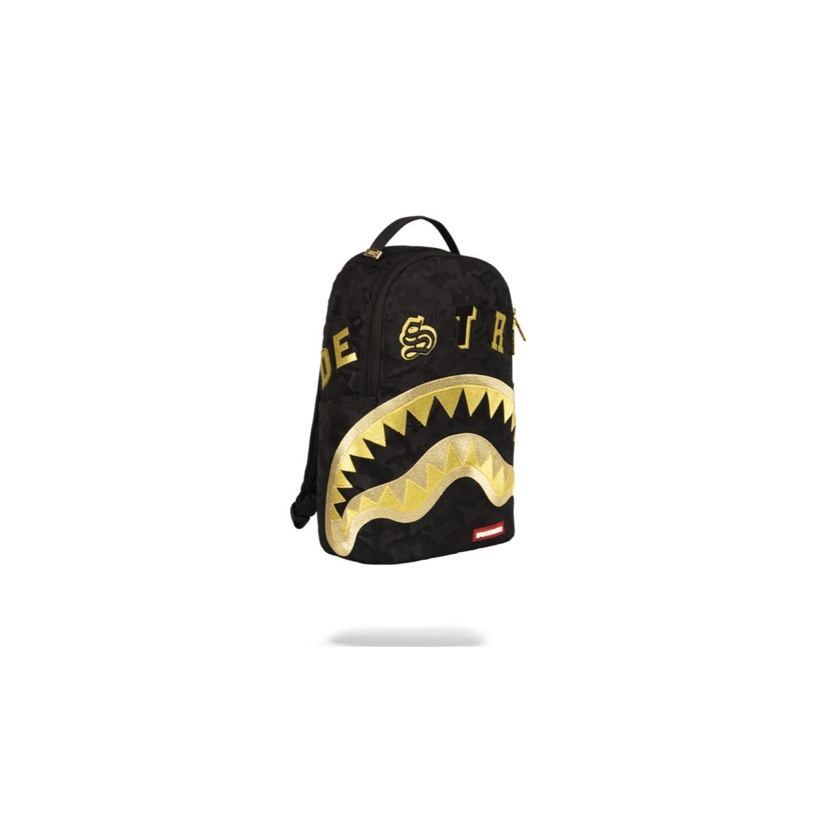 Backpack Sprayground- Destroy black gold camo