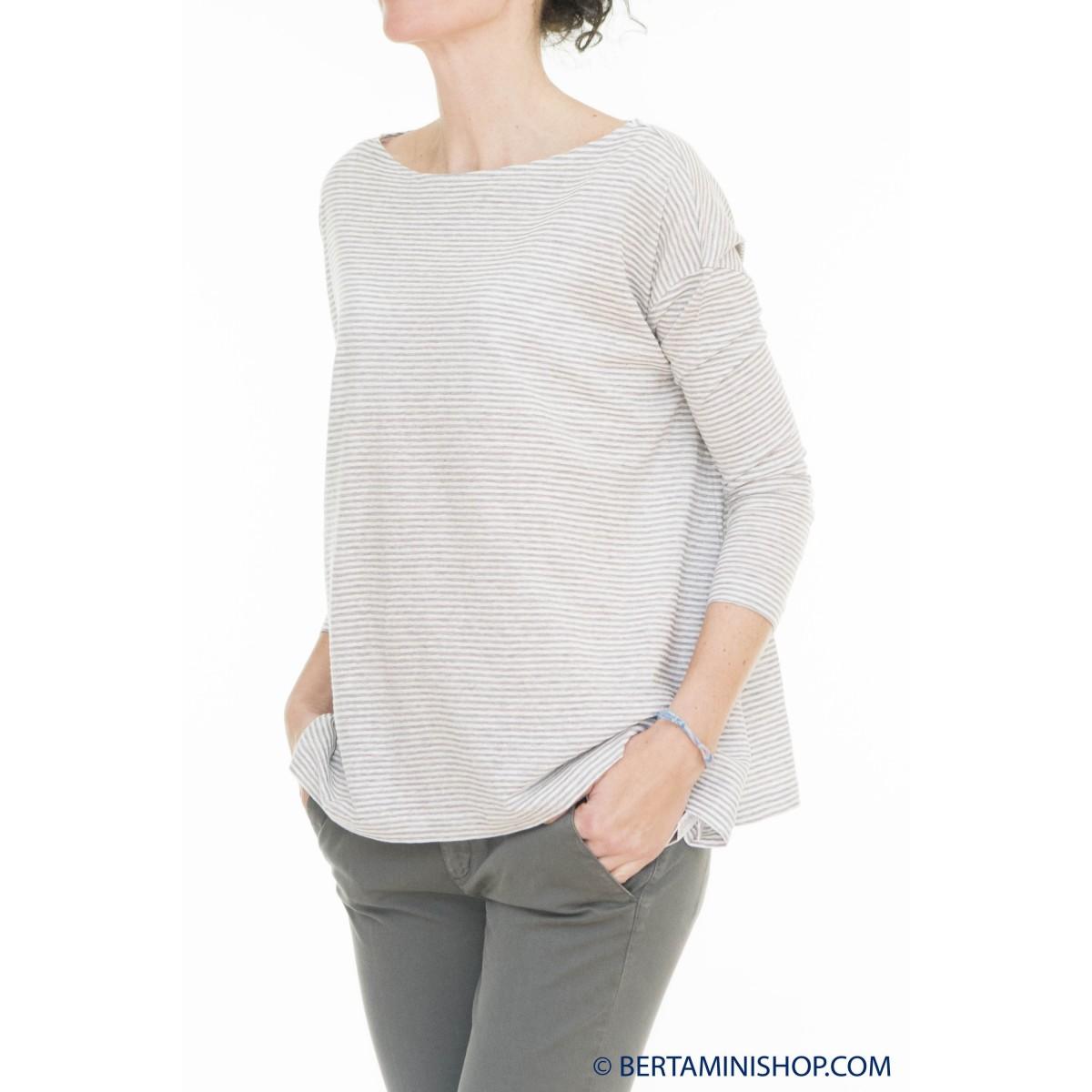 T-Shirt Zanone Donna - 851914 Z1454 T-Shirt Manica 3/4