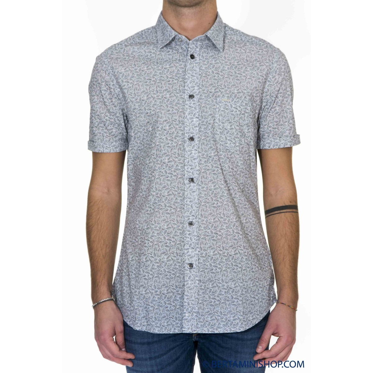 Camicia Diesel Uomo - S-Palm-Shirt Camicia Manica Corta