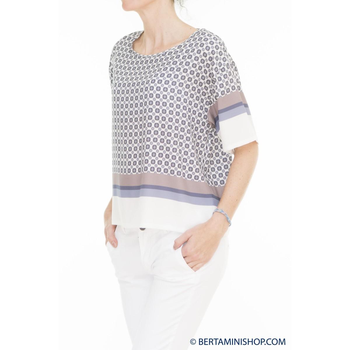 T-Shirt Kangra Donna - 1500/21 Maglia Stampa Seta