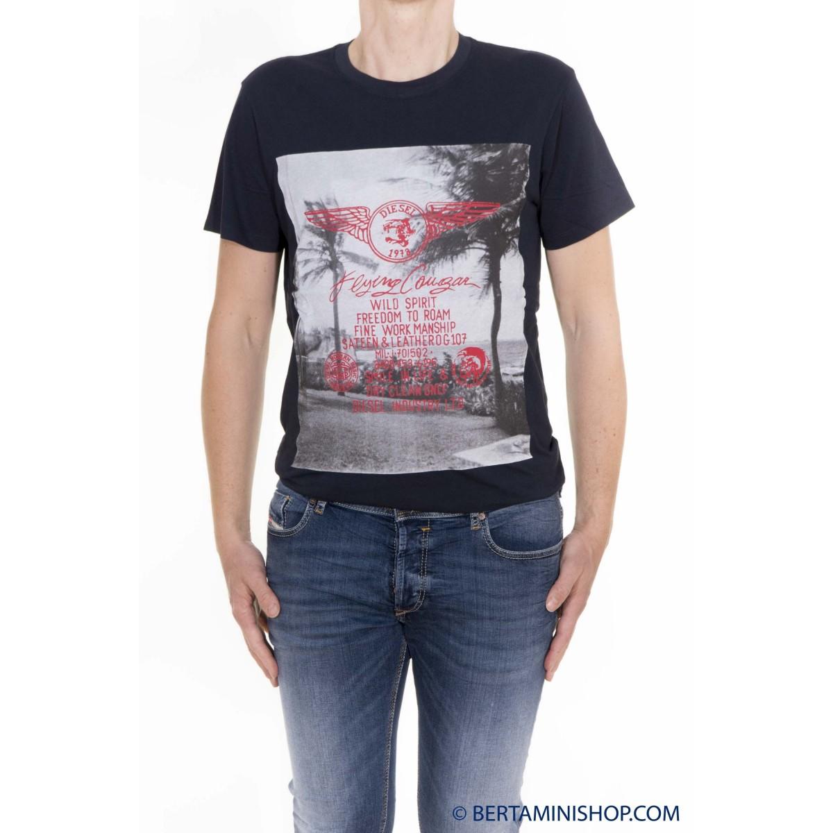 T-Shirt Diesel Uomo - T-Diego-FS 81E - Blu