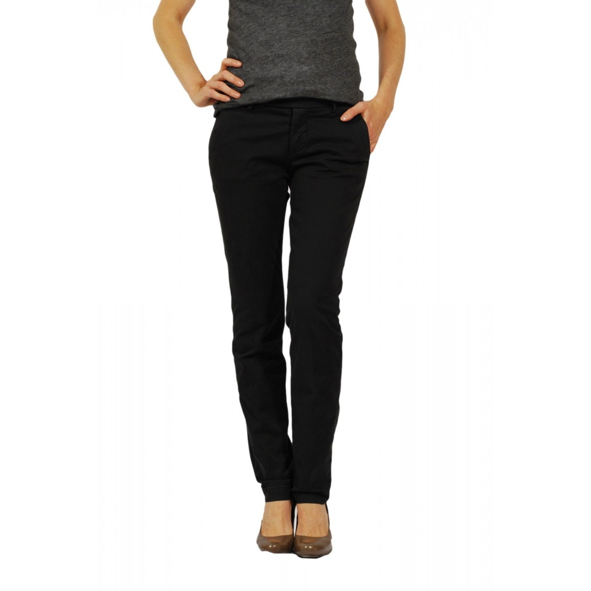 Trouser Woman Roy Rogers - Roxanna Gab Mid Strech 37 Trouser Woman Cotone