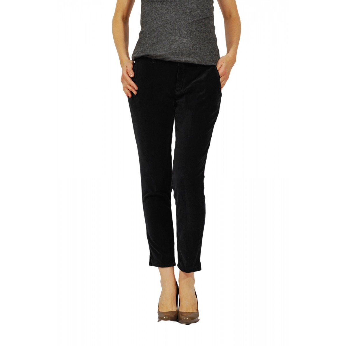 Trouser Woman Department Five - P052 T0002 132 Vellutto Strech Trouser Woman Vellut0