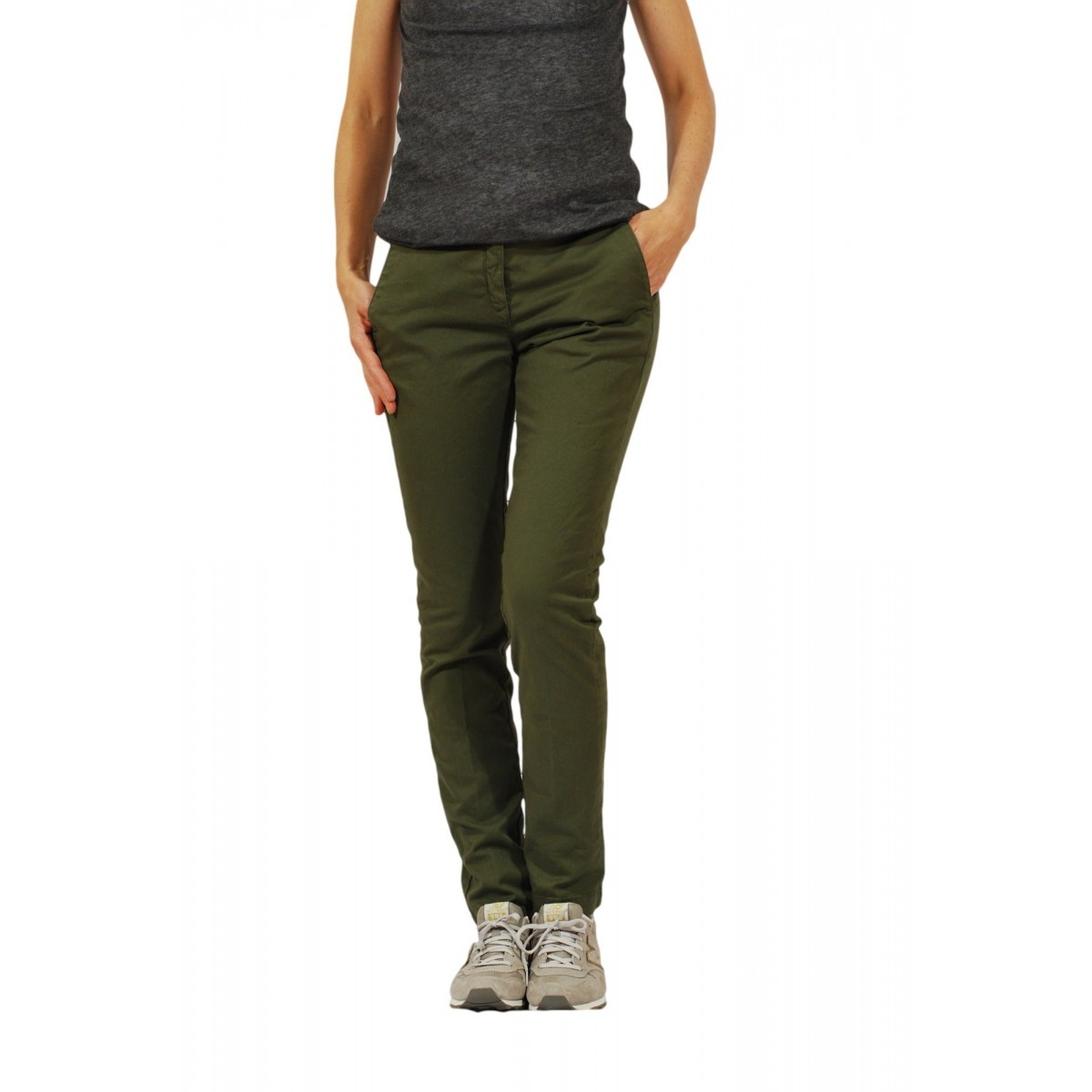 Trouser Woman Department Five - P051 T0001 460 Gabardina Strec Trouser Woman Gabardina