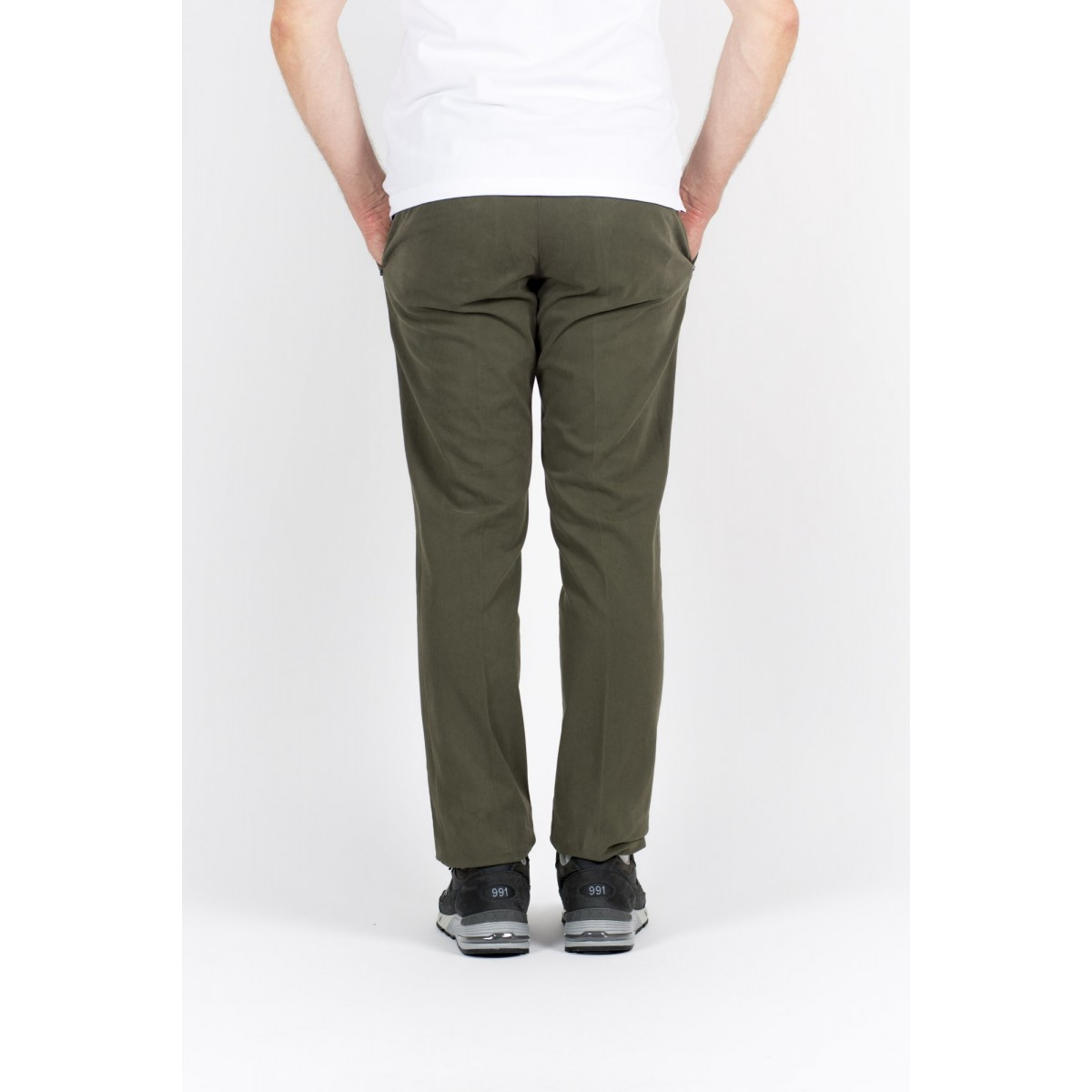 Pantalone uomo Entre amis - Pantalone tasca america slim con fondo 16cm 902 - Verde