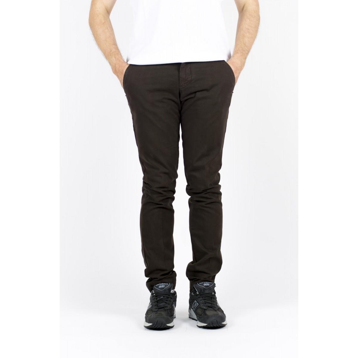 Pantalone uomo Entre amis - Pantalone tasca america slim con fondo 16cm 502 - Tasta di moro