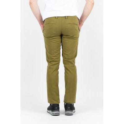 Pantalone Entre Amis Uomo - A15 8201Pantalone Tasca America Slim Con Fondo 16 cm 903 - Oliva