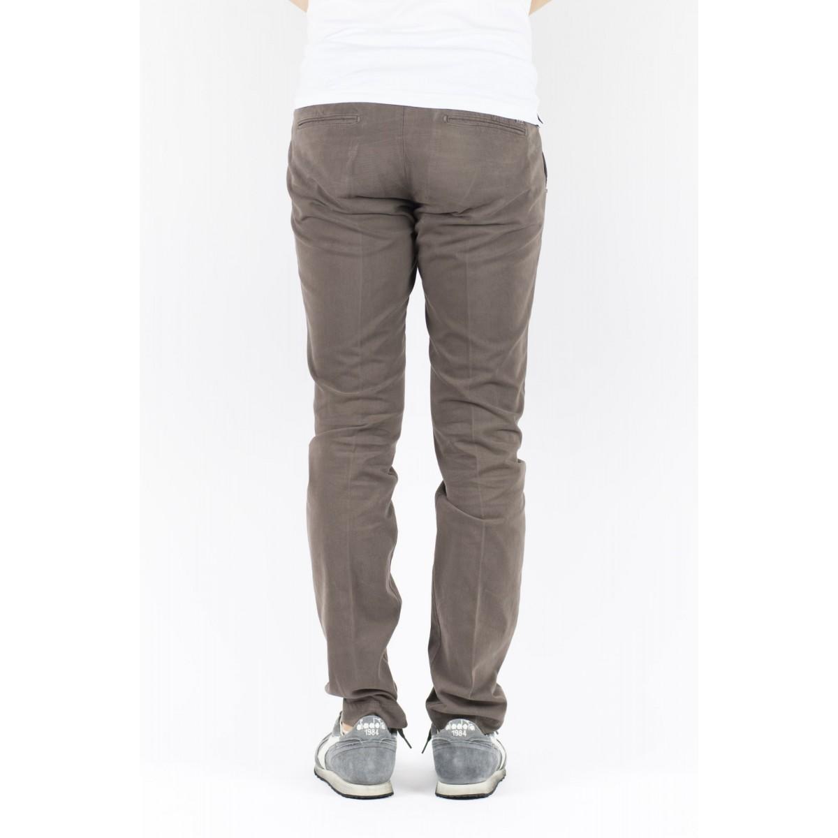 Pantalone uomo Entre amis - Pantalone tasca america slim con fondo 16cm 501 - Cioccolato
