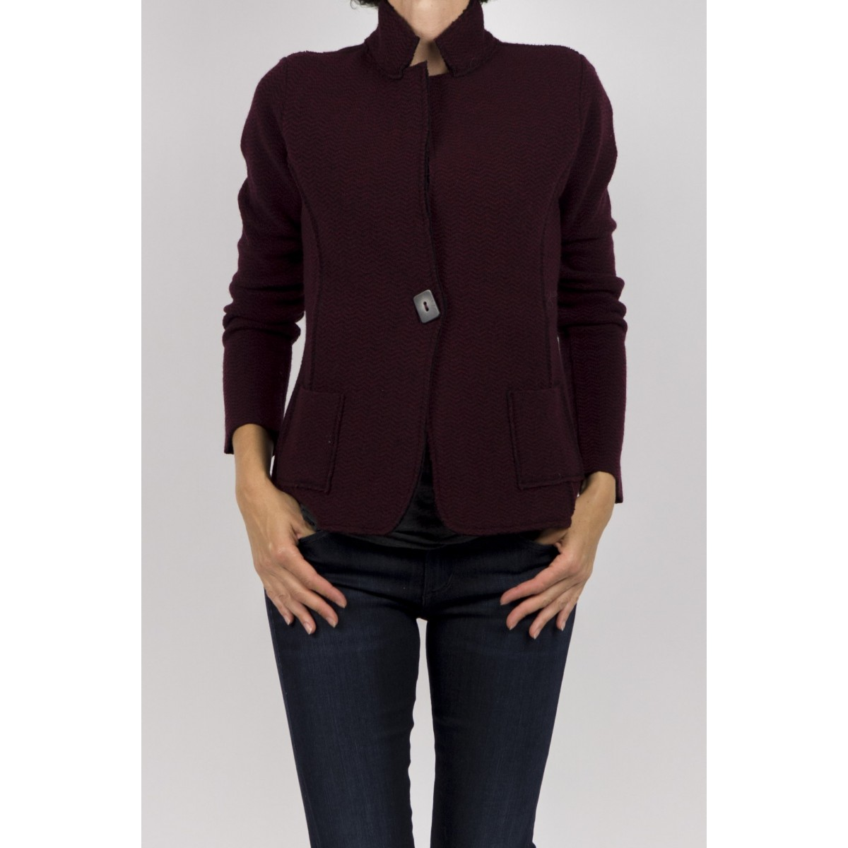 Wool Jacket Kangra Woman- 7550/57 207 - Bordo