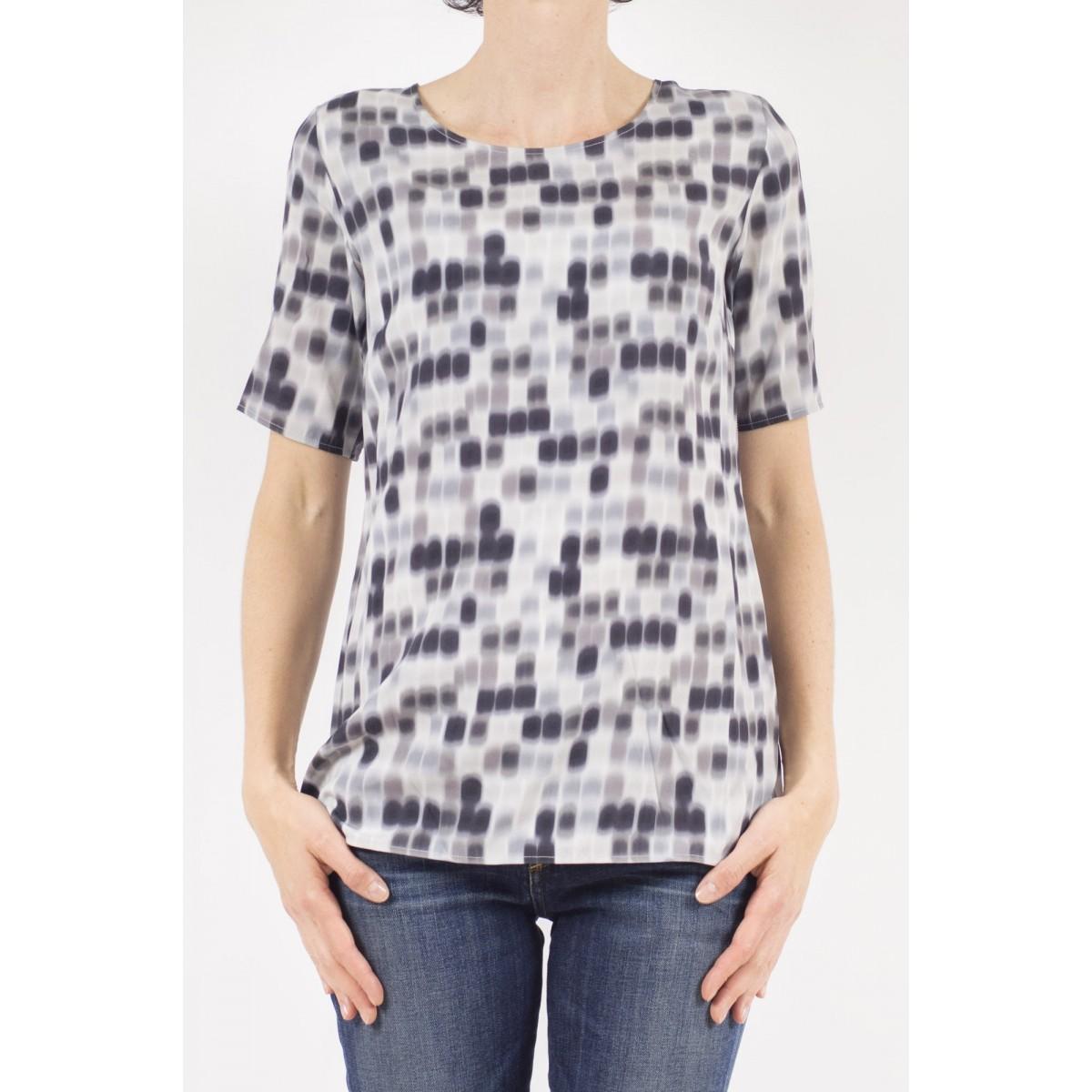 T-shirt donna Kangra - 7825/01 t-shirt seta stampa 29 - grigio
