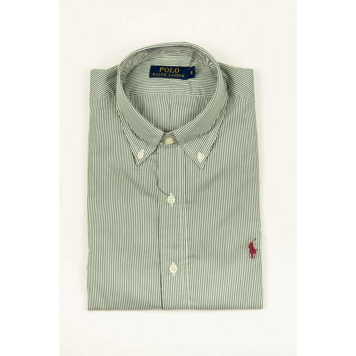 Camicia uomo Ralph lauren - A04wbdbdcpop5 C3FL2 - riga verde