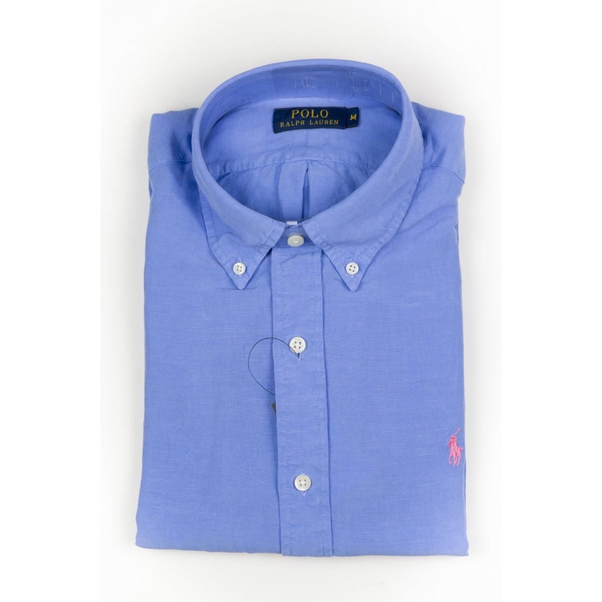 Camicia uomo Ralph lauren - A04wbdplltime A5420 - azzurro