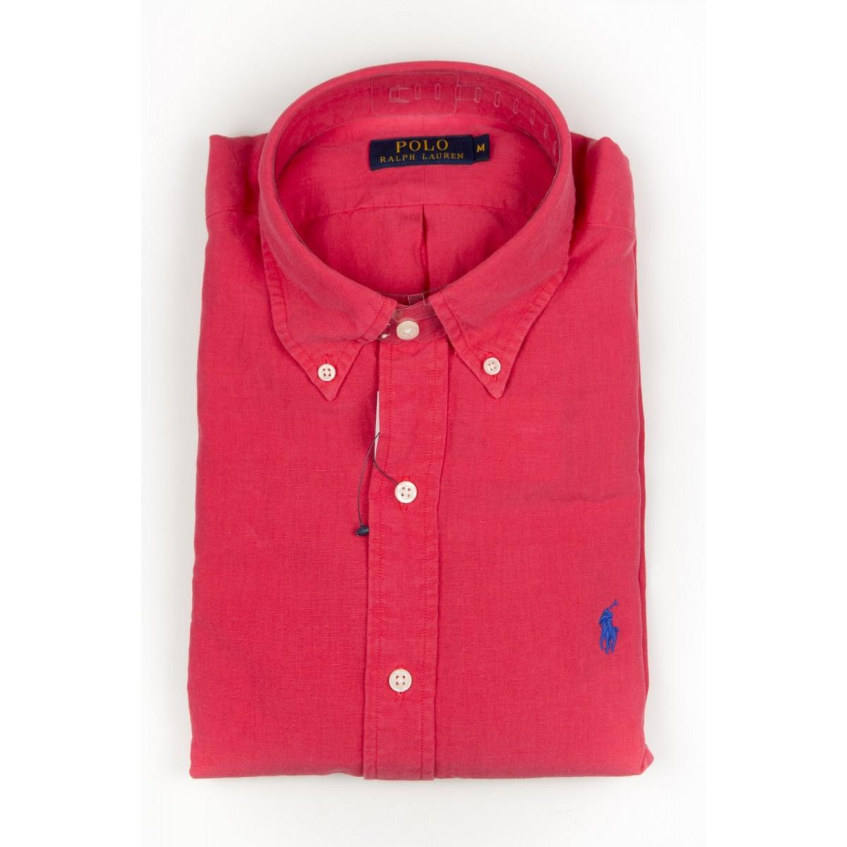 Shirt Ralph Lauren Man - A04Wbdplltime A6TUV - rosso