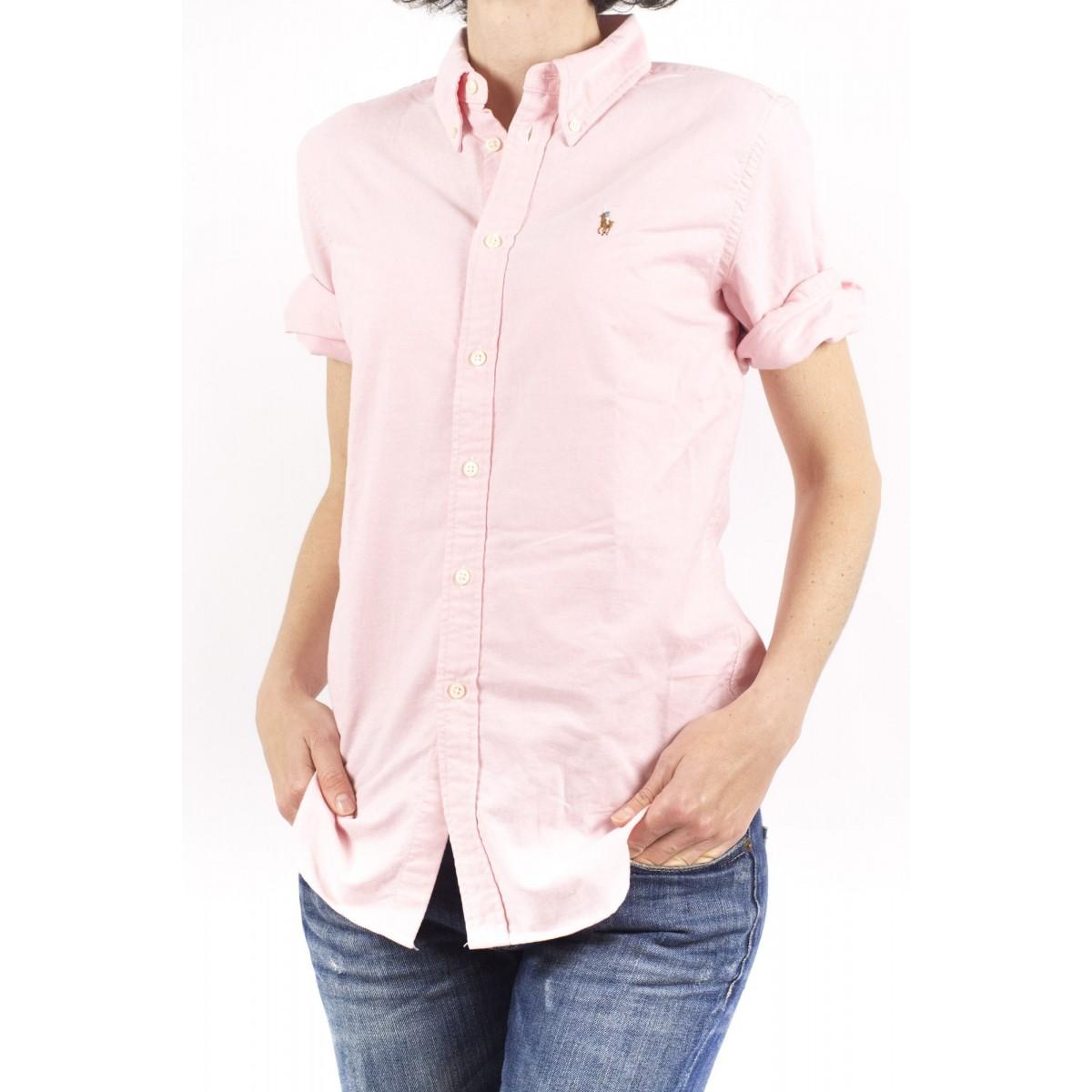Camicia manica corta donna Ralph lauren - V33iojeyc9203 AA254 - rosa oxford