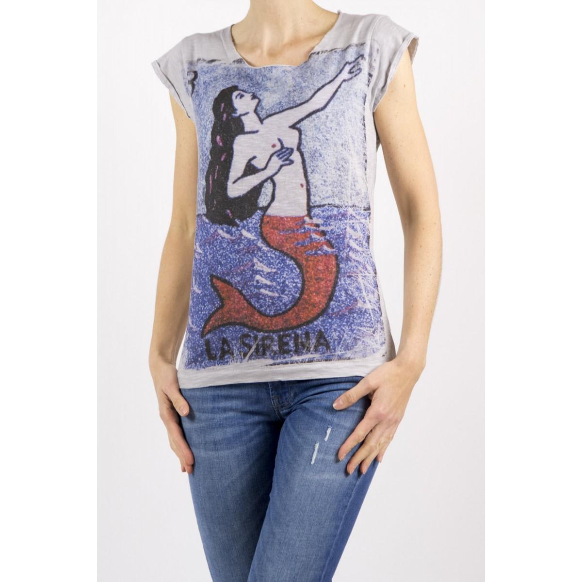 T-Shirt Bastille Damen - 2.6 T-Shirt Grau Moto