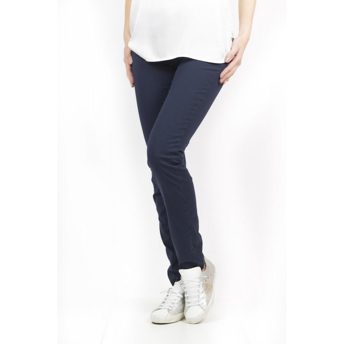 Trousers Roy Rogers Woman - Cate Gabardina Summer Strech 001 - blu