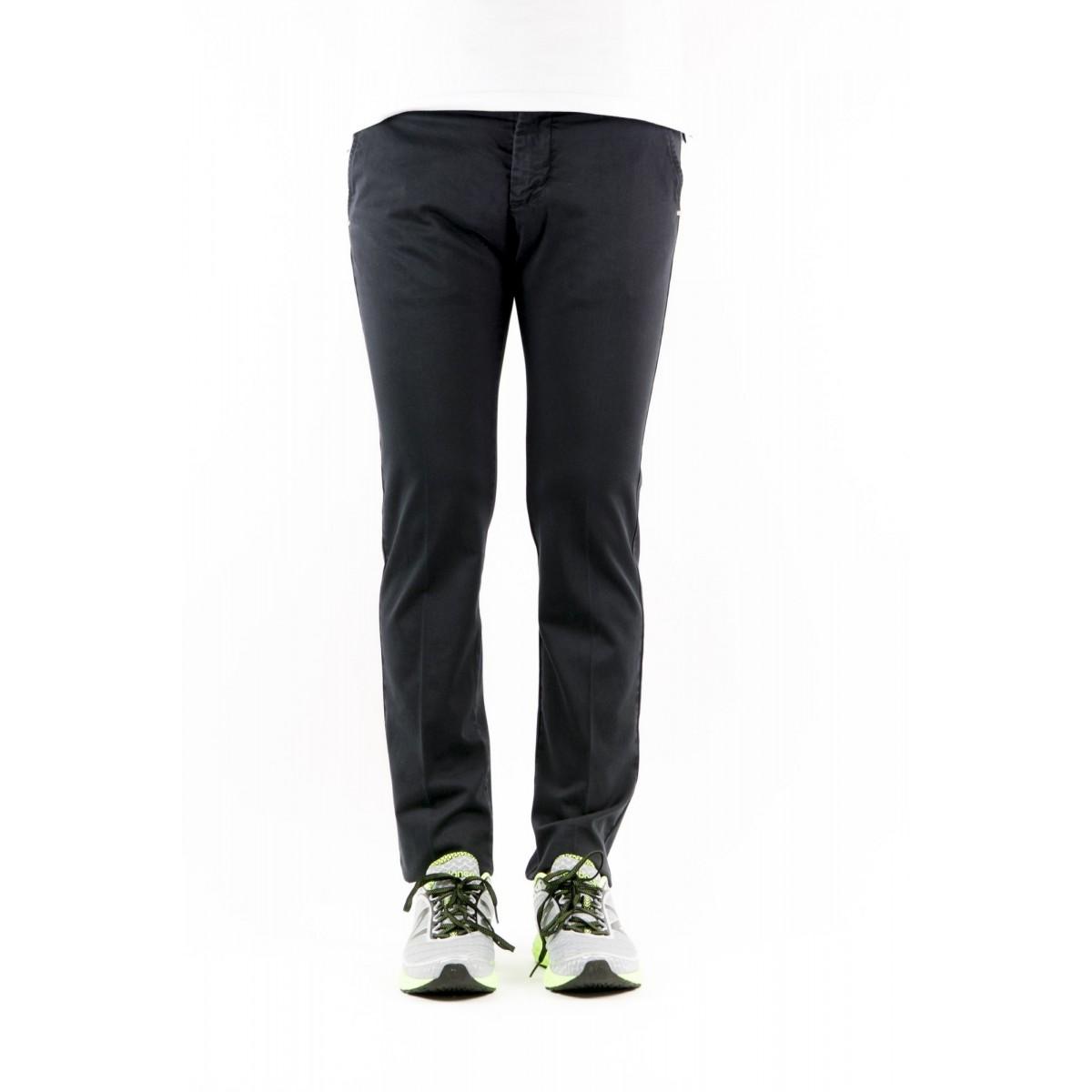 Trousers Entre Amis - 8201 292L17 Gabardina Strech 0401 - blu navy