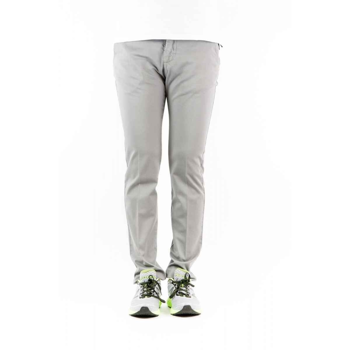 Trousers Entre Amis - 8201 292L17 Gabardina Strech 0303 - grigio