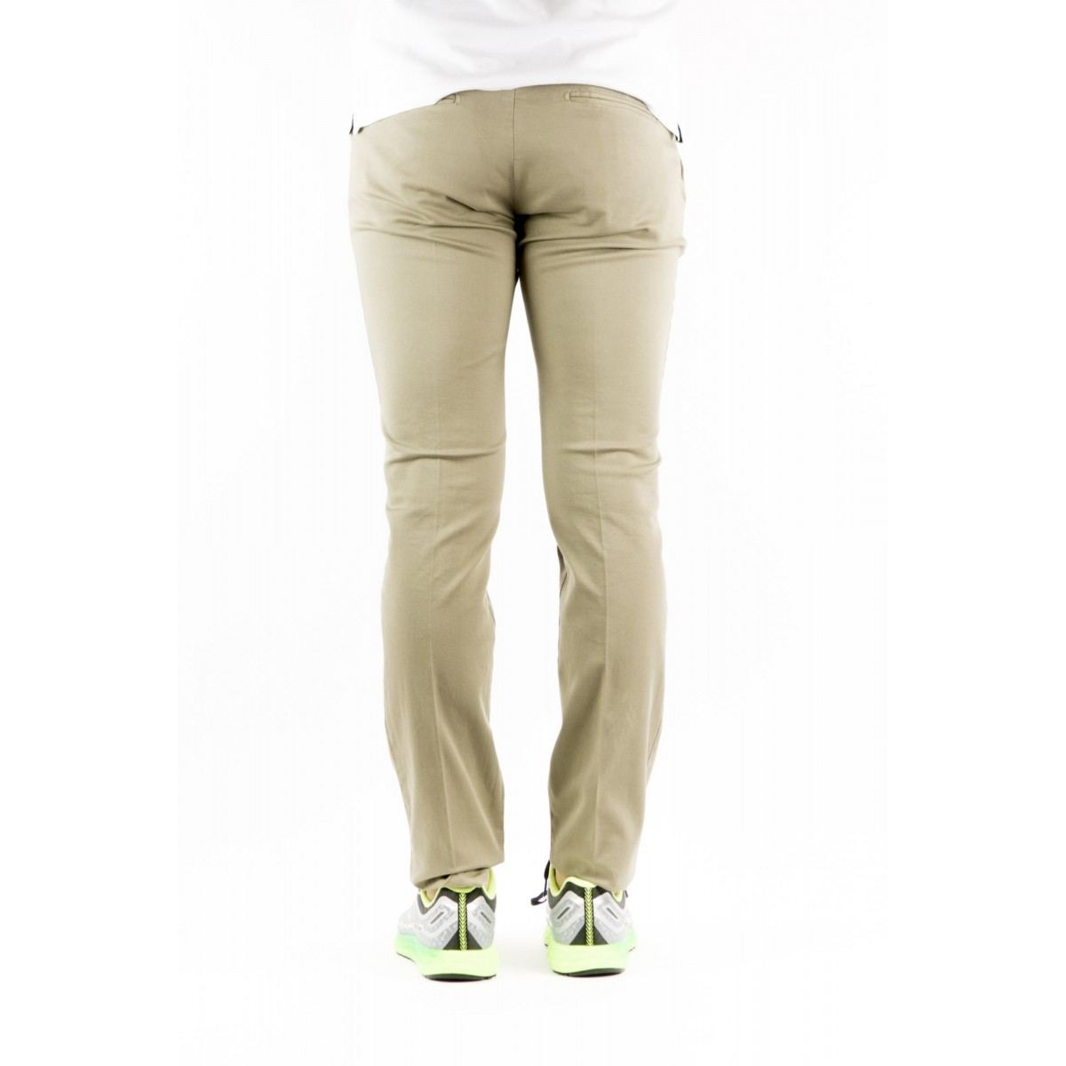 Trousers Entre Amis - 8201 292L17 Gabardina Strech 0505 - fango