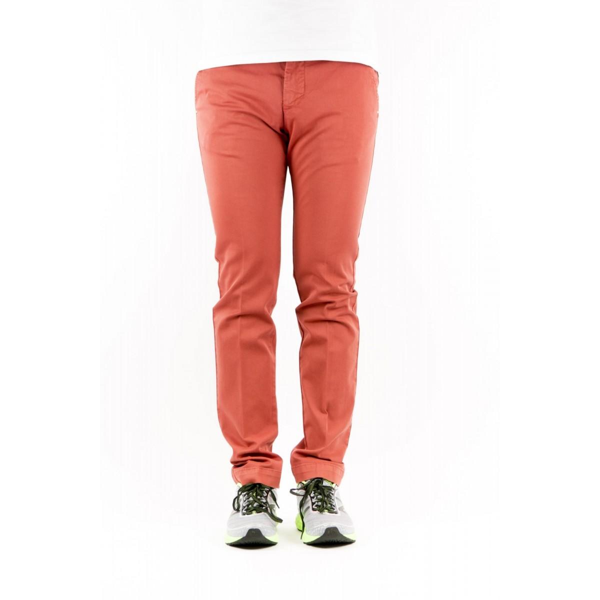 Pantalone uomo Entre amis - 8201 292l17 gabardina strech 0802 - mattone