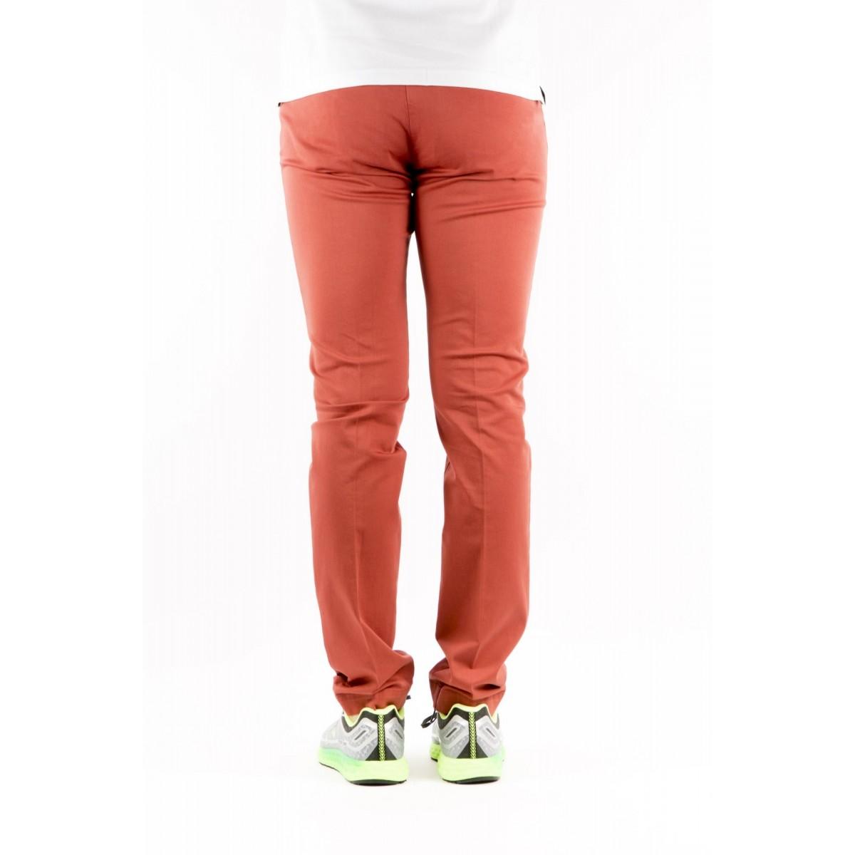 Trousers Entre Amis - 8201 292L17 Gabardina Strech 0802 - mattone