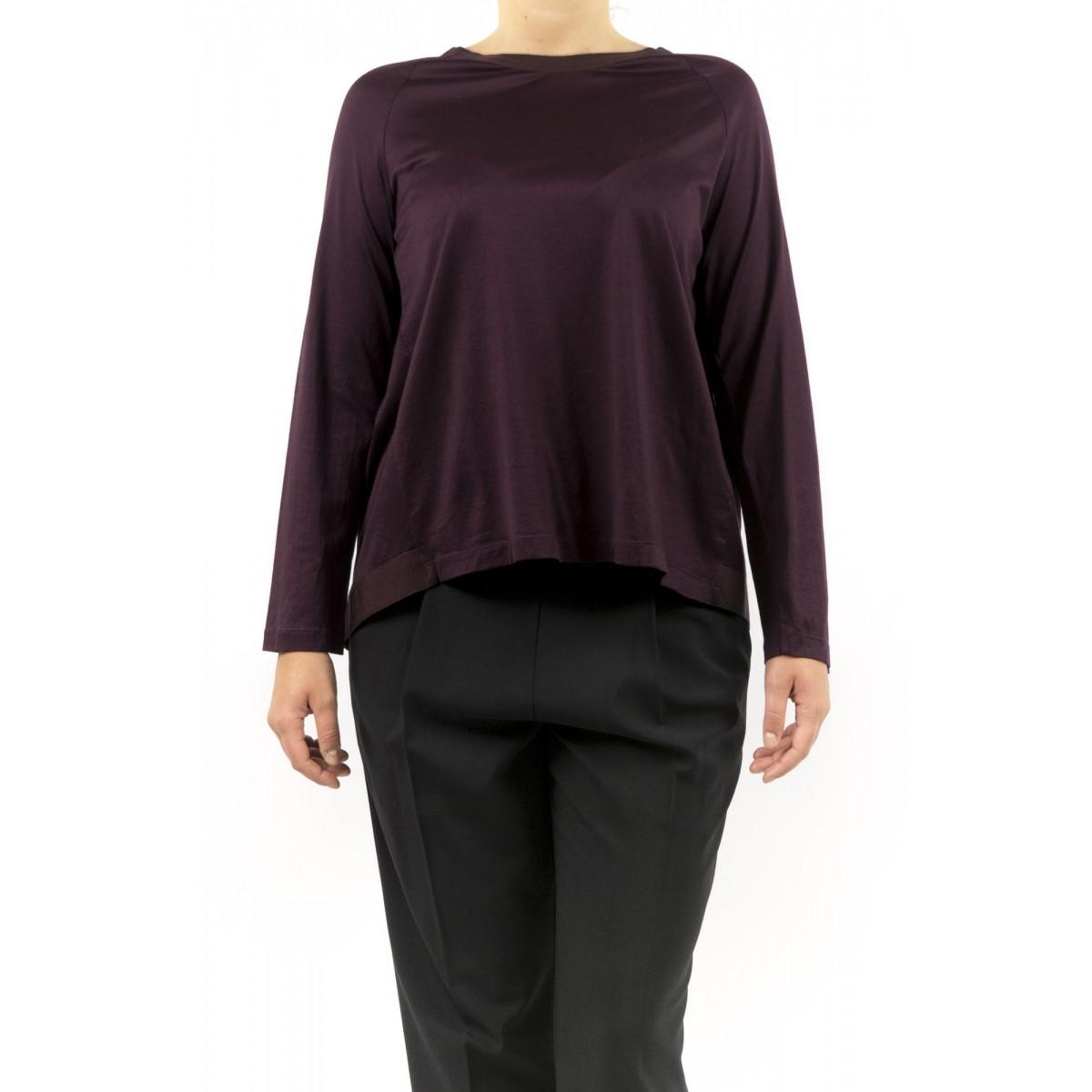 T-shirt donna Erika cavallini - semicouture - P5i128 t-shirt filo scozia 236 - vino