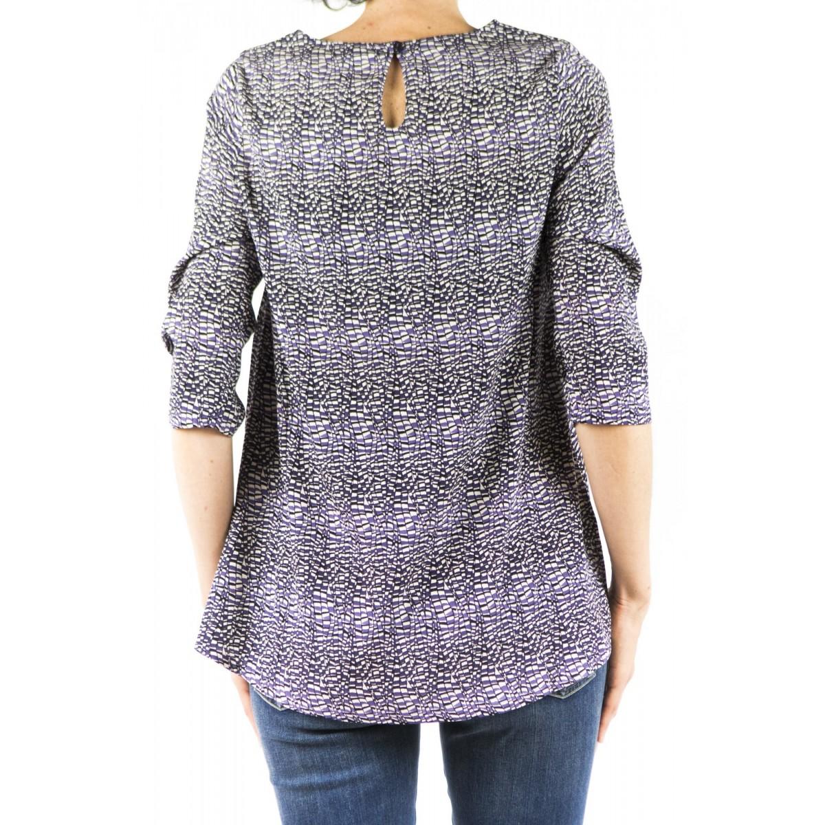 Camicia donna Kangra - 9908/90 camicia seta 51 - MELANZANA