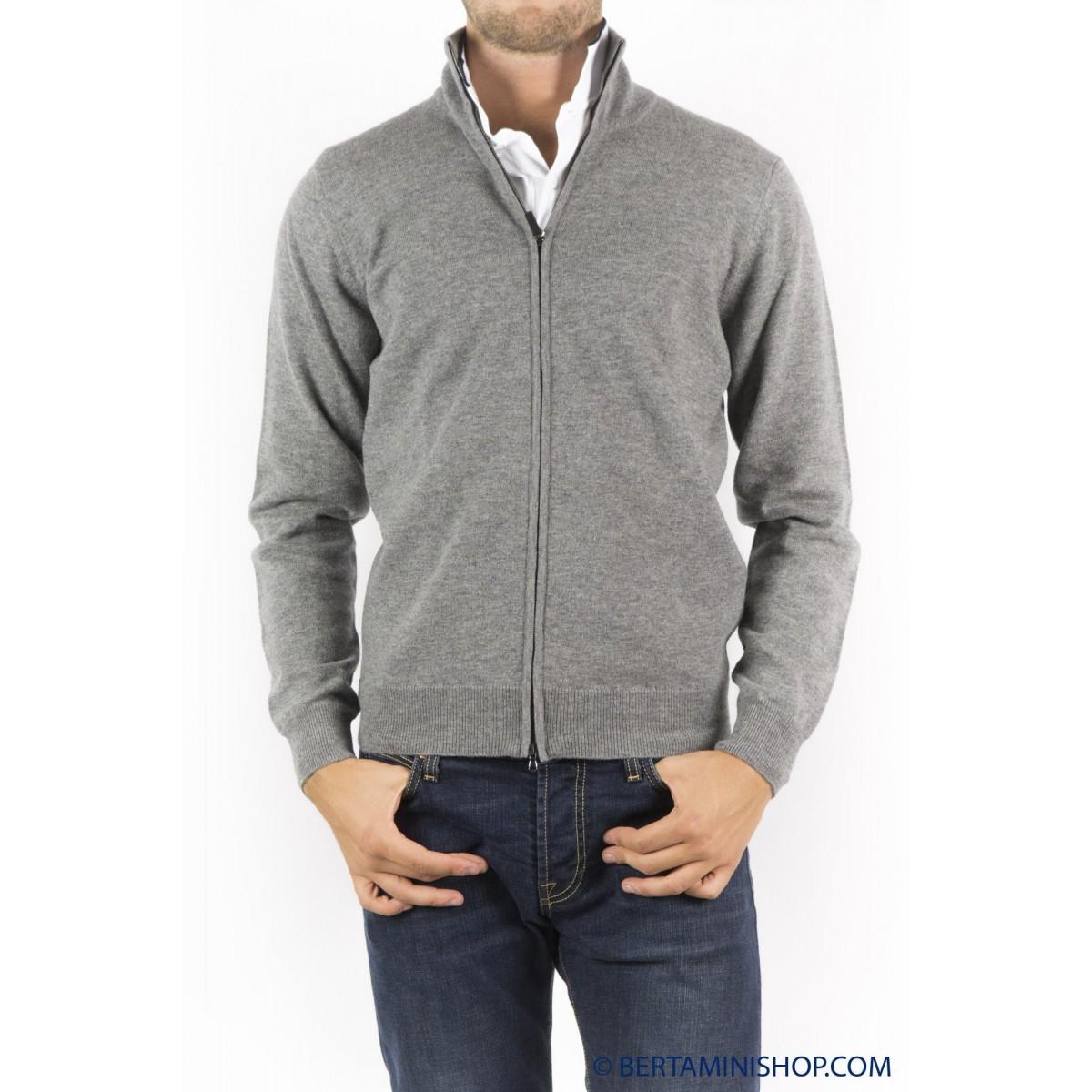 Cardigan Kangra Man - 9008/09 32 - grigio medio