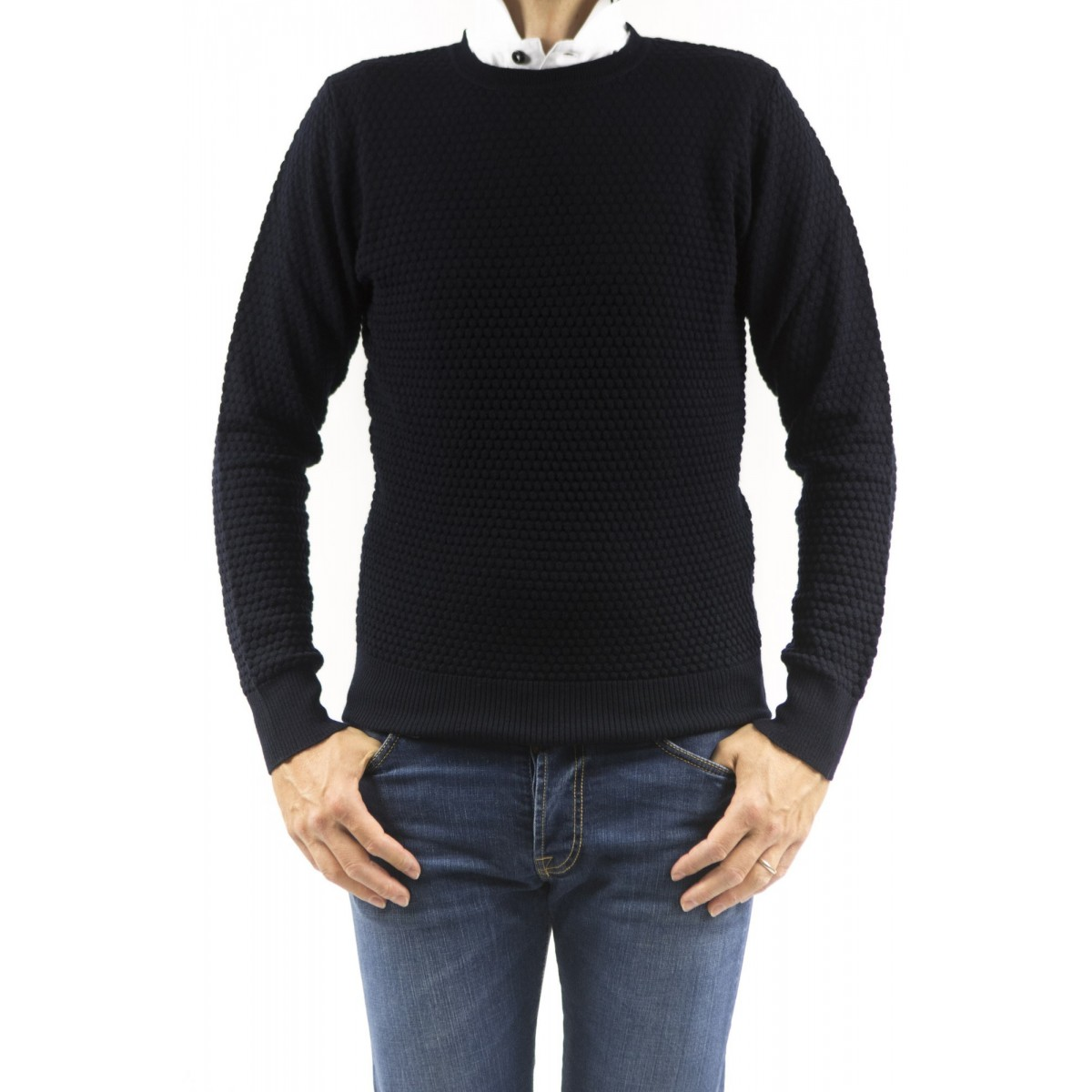 Sweatshirt Kangra Man - 9016 /01 41 - BLU SCURO