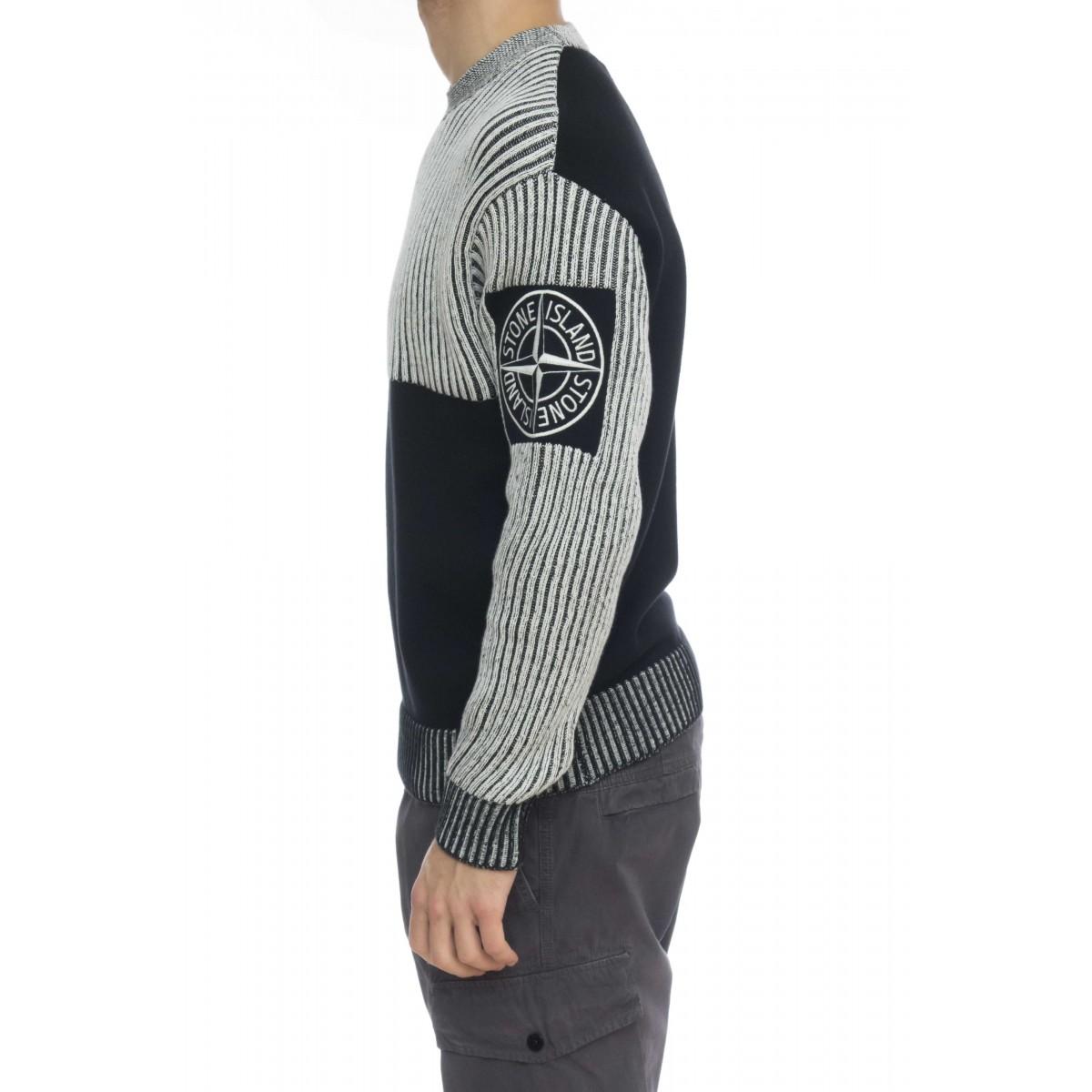 Maglieria - 508d1 maglia special logo coste bicolor