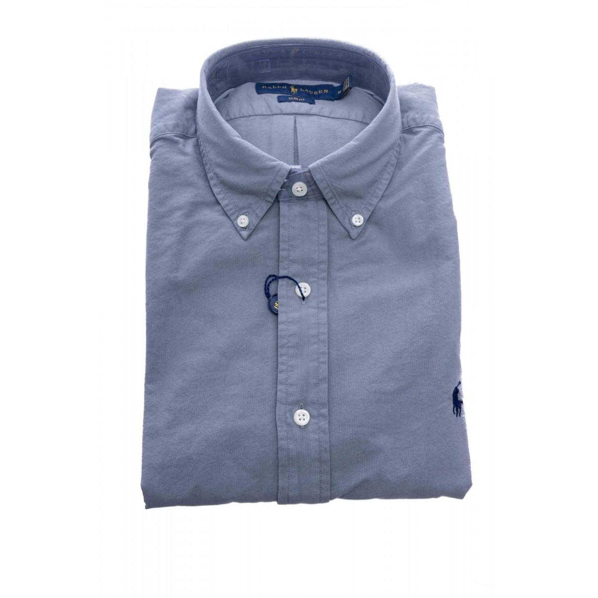Camicia - 684871 camicia chino lavata slim fit