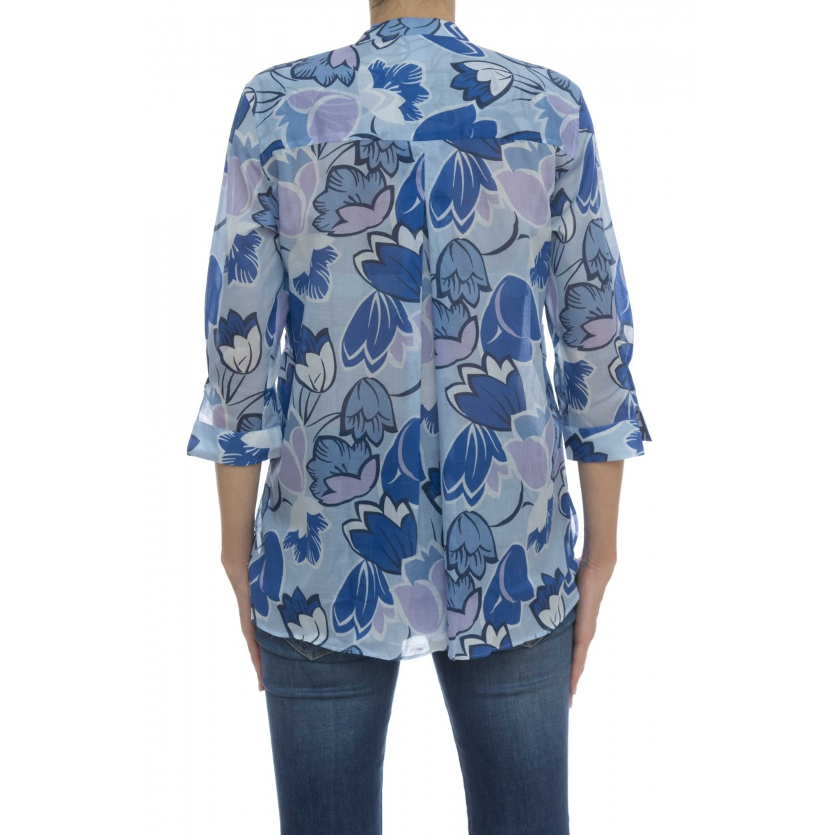 Camicia donna - R2v zxe mussola stampa fiori