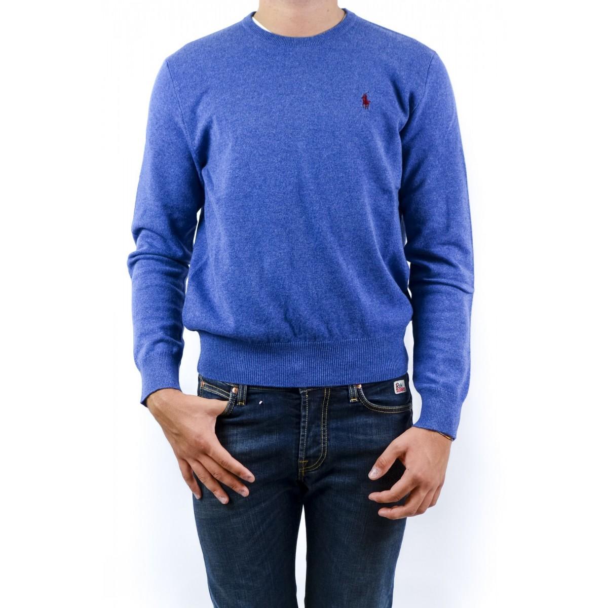 Maglia uomo Ralph lauren - A42scn07w8793 A488Y - Melange azzurro